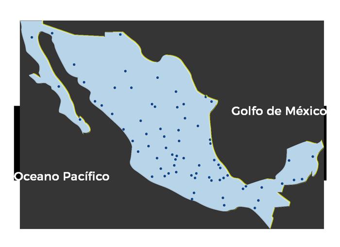 Mapa cobertura y distribución